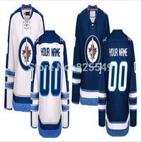 Free Shipping Custom Winnipeg Stitched White Blue Personalized Ice Hockey Jerseys With Any Name Any Number Size M-XXXL