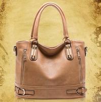 2015 new women handbag fashion genuine leather portable shoulder bag Hot Bag Vintage Handbag 4 Colors Gift BK053