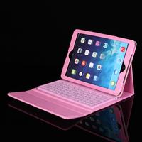 PU Leather Case Wireless Bluetooth Silicon Keyboard for Apple iPad Air 2 iPad 6 New