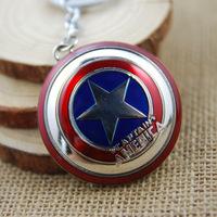 2015 new balance key chainHot Spot Avengers Captain America shield buckle keychain zinc alloy golden key chain explosion models