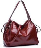 New Women Handbag Oil wax leather Bag Lichee Pattern Shoulder Bags Bolsas Femininas Crossbody Tote Fashion BK041