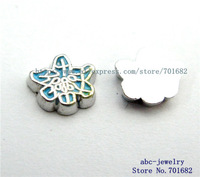 Lily FC405 Mix Min order 10$ 20pcs zinc alloy wholesales floating charms for living locket as families friends gift