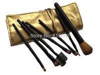 Gold Color Larainevip 7PCS Eyeshadow Eyelash Eyeliner Lipstick Foundation Makeup Brush Set Tool