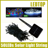 Outdoor 50 LED Solar String Lights Fairy Strip Light 7m RGB/White Christmas Party Xmas Garden Decoration Lamp waterproof