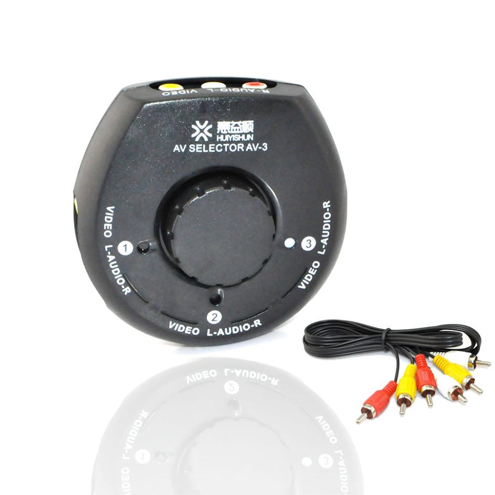 3 Way Audio Video AV Signal RCA Switch TV Selector Box Splitter for DVD Camera(China (Mainland))