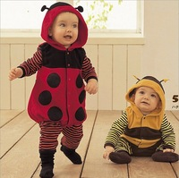 Christmas baby clothing thick cotton rompers cartoon boy/girl jump suit winter infant garment baby romper