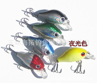 (55mm/8.2g)Lot 10 pcs Red Eye Random Colors Fishing Lures Crankbait Minnow Hooks Crank Baits Swimbait b0042