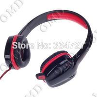 Fashion Stereo Gaming Headphone w/ Microphone - Black + Red