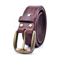 Guarantee 100% Pure Cowhide luxury Male leisure belts Single needle buckle Vintage Full Cow Leather belt  for men jeans belt