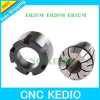 Free Shipping  6pcs/lot   ER Nuts ER25,ER20,ER32 M type Collet Clamping Nut for CNC Milling Collet Chuck Holder Lathe/ER collet