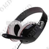 Headphones w/ Microphone + Volume Control for PC - Black (3.5mm Plug)