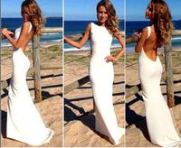 Summer dress 2015 sexy Maxi Midi Evening Bodycon dress Party Prom Women's Bandage white green black long Halter Dresses Q290