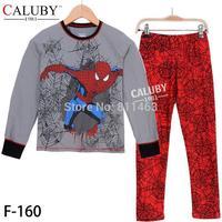 5 sets/lot /  2015 big boys spiderman clothes set / 8-12 years children pajamas / kids clothing set