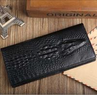 5pcs/lot New Genuine good leather brand women wallets 14colors Crocodile 3D purse wholesale fashion leather wallets hot selling