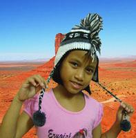 100% Wool Knit Woolen Mohawk Snow Hat Earmuff Cap Handmade Toddlers Kids Age 2-5
