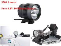 1 Day Shipping! 5200 Lumens 4X CREE XM-L T6 LED Bike Bycicle Light 3 Modes luz bicicleta Bike Headlamp Headlight Free Shipping