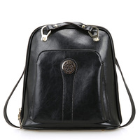 Manufacturers wholesale 2014 new wave of college style fashion leather shoulder bag backpack schoolbag shoulder bag 0460