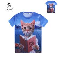 [Magic] 2015 new casual tshirt men/women 3d t shirt Doctor Cat 3D T-Shirt men cotton t-shirt LY237 free shipping