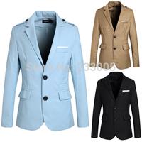 2014 New Fashion Styles Solid Suits For Men Blazer Designs Slim Fit Cheap Mens Blazer Jacket Single Breasted Nice Blazers M-XXL