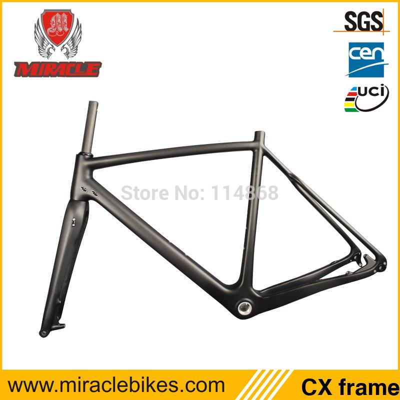 Tope Quality Carbon Cyclocross Bicycle Frame Fork Di2 CX 142*12 Thru Axle Frame Diameter 27.2mm SeatPost UD Matt 52cm BSA & BB30(China (Mainland))