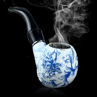Pretty Durable Ceramics Pipe Smoking Tobacco Pipes Cool Gift Present Cigar Pipe for Long life