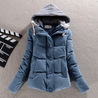 Hot sale 2014 Autumn and Winter Fashion Women Slim Candy Color Hooded Jacket Large Size L-XXXL 6 Colors G369