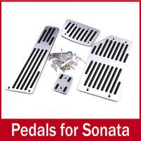 Aluminium Sport Foot AT Pedals Plate Car trim for Hyundai Sonata yf 2011 i45 Automatic Transmission