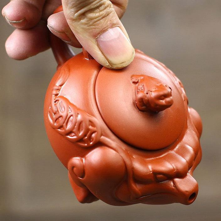 Free shipping Wealthy Toad Golden Toad Puple Clay Teapot Tea Set Gongfu Teapot Tea 120ml