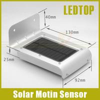 16 SMD LED Solar Power Motion / Ray Sensor Garden Security Lamp Outdoor Garden Waterproof Wall Light Enegry Saving