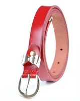 summer style real leather dress belts for ladies factory price