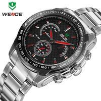 Top brand WEIDE military army watch man sports watches 30m waterproof  clock stainless steel wristwatch relogio masculino