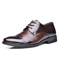 New 2015 Fashion leather Men flats Hotsale spring autumn patchwork man dress shoes