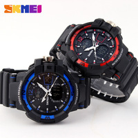 Free shipping 2015 fashion casual  Multifunction Waterproof Outdoor sports watch Neutral Electronic Wristwatches 4 colors---nbg