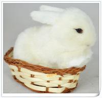 13cm Look Real Simulation Animal Plush Rabbit Toy kids Baby Gift Home Wedding Decoration X-mas Gift