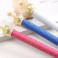 10pcs/lot Creative Stationery Elegant Crown Ballpoint Pen Cute Cartoon Alloy Ball Pen School Office Student Gifts Wholesale