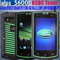 New ALPS S600 IP68 4.0 inch 800X480 pixels IPS MTK6572 Dual Core OS4.2.2 1GB 4GB 8.0MP GPS WCMDA  PTT Cestina Polski Slovka
