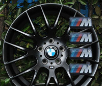 4pcs For BMW M Wheel Sticker Badge Replacement M3 M5 M6 Steering Wheel Decals