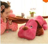 LY8436 55CM New Cute Cartoon Poodle Papa Dog Plush Toys Christmas Gift
