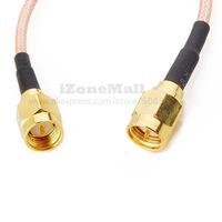 RF coaxial coax assembly SMA male to SMA male Cable adapter 50cm Pack of 2pcs Free shipping