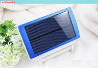 Mobile power supply 120000mAH Energy saving Solar Charger 2 Port External Battery Pack Power Bank For Cellphone iPhone 6