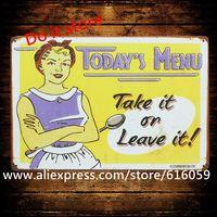 [ Do it ] VintageToday Menu Craft Plaque Wall Tin Sign PUB Decor 20*30 CM B-318