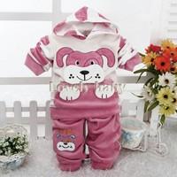 Baby Boy Kids Cloths Children's Wear Spot Dog Cartoon Clothing Hooded Long Sleeve Top +Pants 2PCS Casual Suit Plus sv18 SV013033