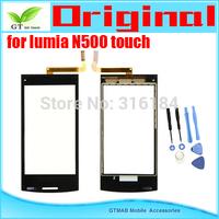 5pcs/lot Original Touch Screen Digitizer For Nokia Lumia 500 N500 Touch screen  Digitizer with opening tools Free shipping