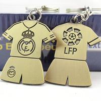 real madrid Bronze uefa champions league Football team metal casual soccer jersey keychains Juventus Football souvenir