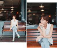New Korean ladies blouse Chiffon sleeveless Shirt Top 2 Colors White, Watermelon red free shipping 5686