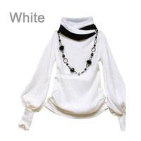Free Shipping Wholesale Women's Shirt Cotton New Fashion Lantern Sleeve Long Sleeve T-shirt 4 colors 7114