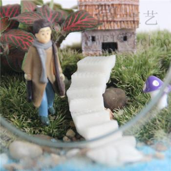 Розничная 2 шт. DIY лестница лестница лестница лестницы волшебный сад гном террариум домашнего декора бонсай сад смолы миниатюры