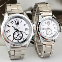 Simple Fashion Dress Wristwatches with Three Stitches Steel Band Hot-sale Upscale Quartz Watches for Men Ladies Lovers