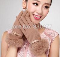 Bu  Ta  Ms. warm winter wool gloves lovely rabbit mouth   sz359
