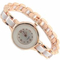 Fashion Modern Women Wristwatch Rhinestone hours Casual Dress Quartz Watch White Band Bracelet Hot Selling